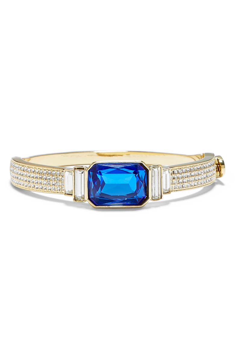 VINCE CAMUTO Radiant Crystal Bangle, Main, color, GOLD/ SAPPHIRE