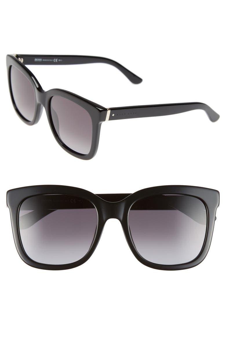 BOSS 54mm OversizeCat Eye Sunglasses, Main, color, 001