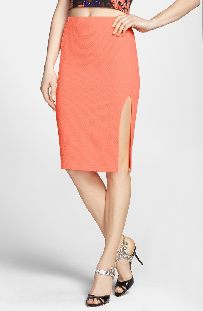 ASTR THE LABEL ASTR Textured Pencil Skirt, Main, color, 950