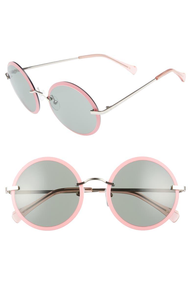 ZAC ZAC POSEN Dido 58mm Sunglasses, Main, color, PINK/ GREEN