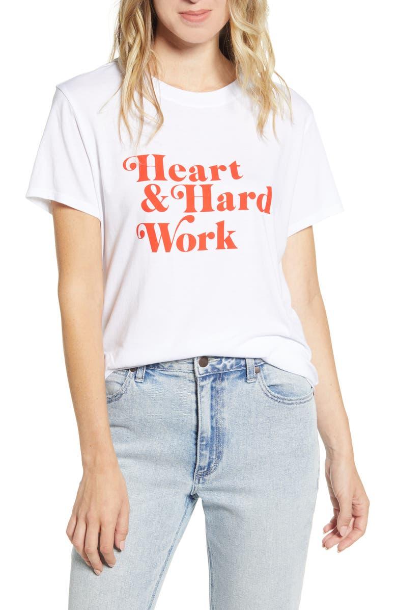 SUB_URBAN RIOT Heart & Hard Work Tee, Main, color, WHITE