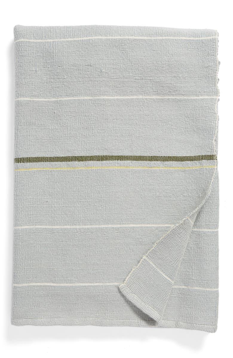TREASURE & BOND Wide Stripe Outdoor Throw Blanket, Main, color, 420