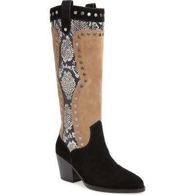Coach Payton Knee High Western Boot, Black