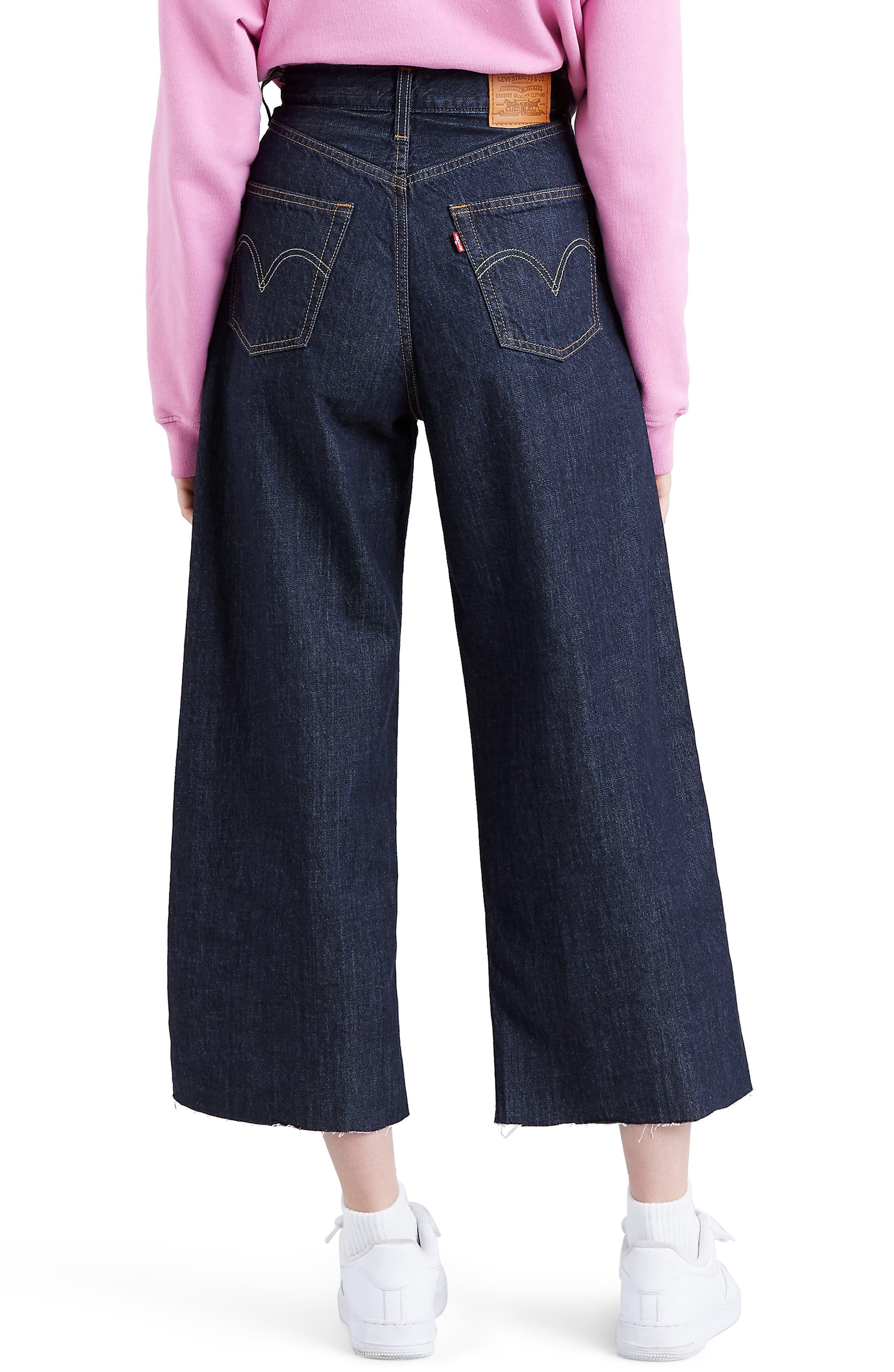 ,                             Ribcage Super High Waist Crop Wide Leg Jeans,                             Alternate thumbnail 2, color,                             420