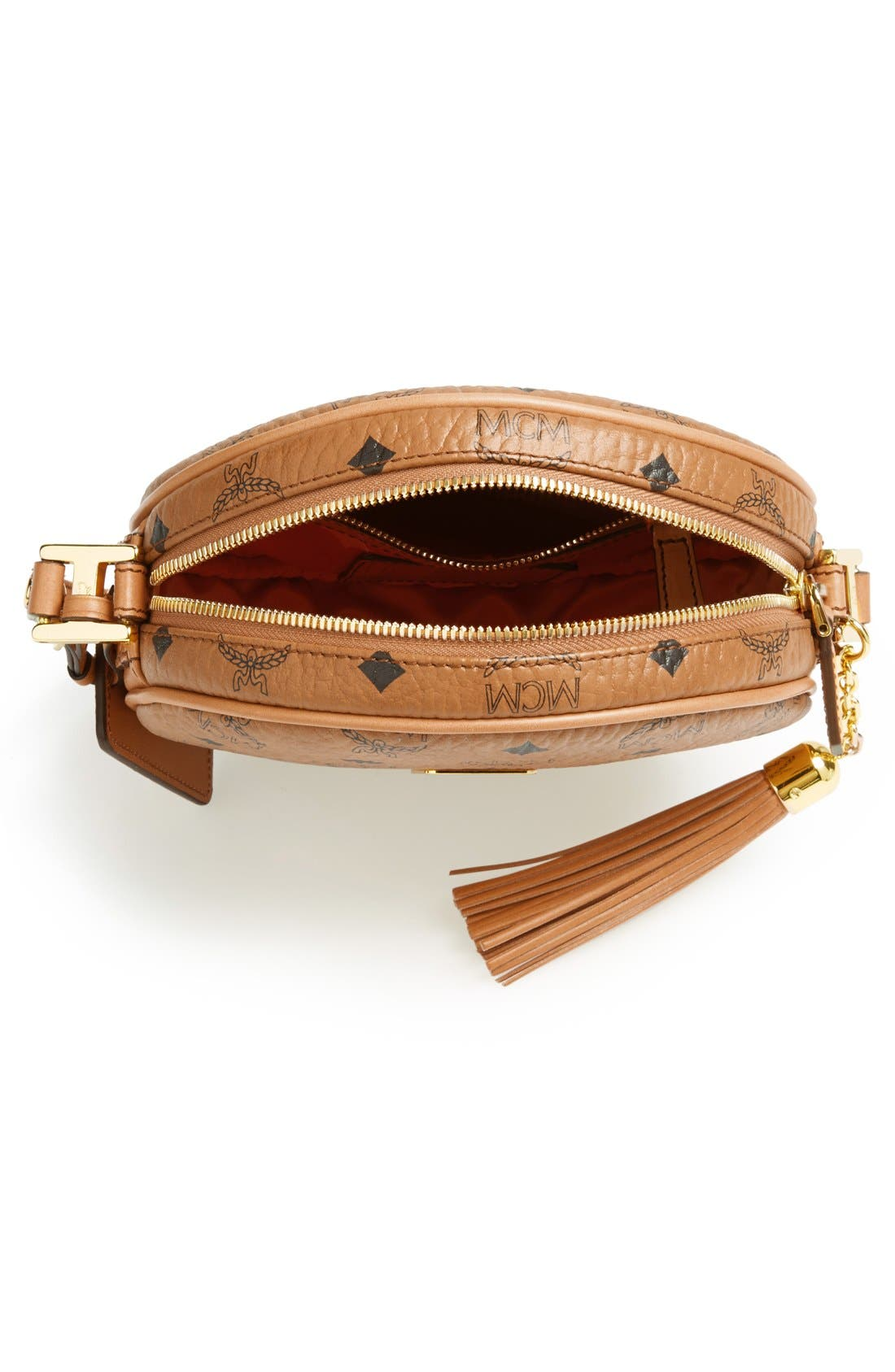 ,                             'Heritage Tambourine' Coated Canvas Crossbody Bag,                             Alternate thumbnail 4, color,                             230