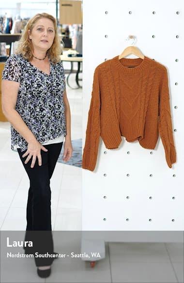 Cable Knit Crewneck Sweater, sales video thumbnail