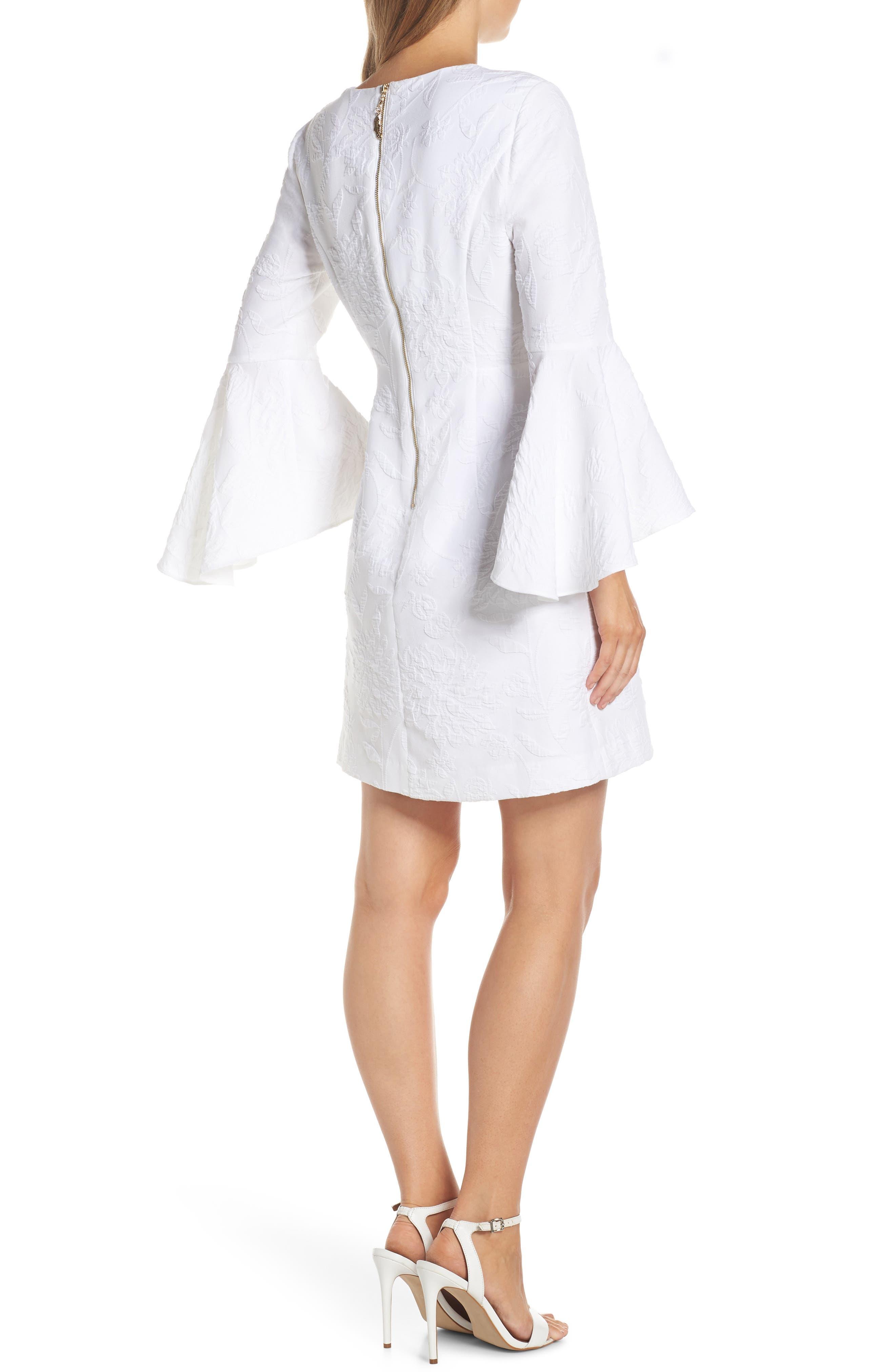 ,                             Kayla Bell Sleeve Dress,                             Alternate thumbnail 2, color,                             RESORT WHITE CALIENTE PUC
