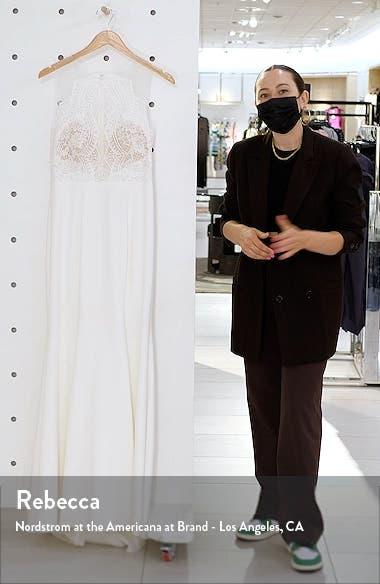 Cutout Lace Bodice Wedding Dress, sales video thumbnail