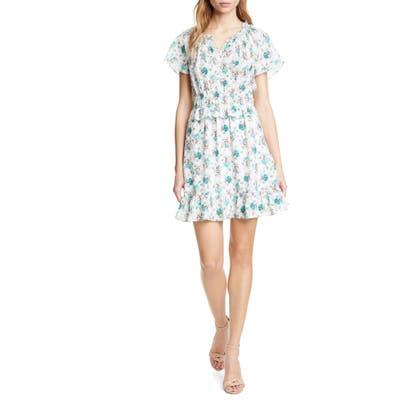 Rebecca Taylor Carnation Stretch Silk Dress
