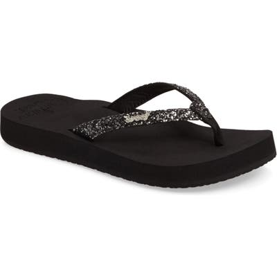 Reef Star Cushion Flip Flop, Black
