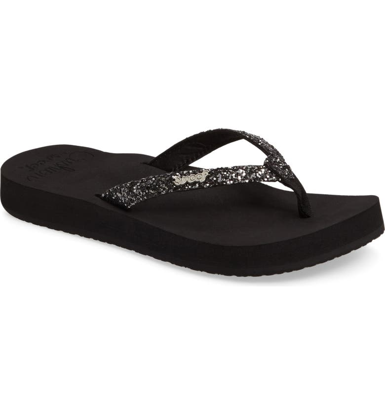 REEF Star Cushion Flip Flop, Main, color, 001