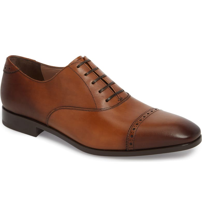 SALVATORE FERRAGAMO Boston Cap Toe Oxford, Main, color, 201