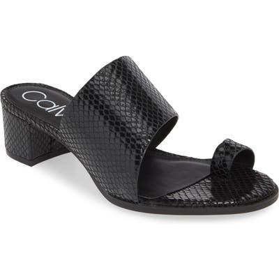 Calvin Klein Dionne Slide Sandal- Black