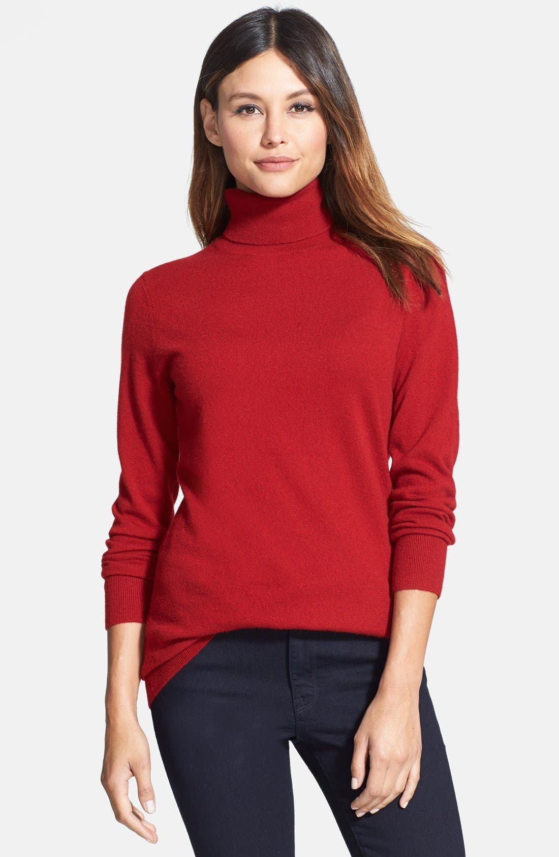 ,                             Long Cashmere Turtleneck Sweater,                             Main thumbnail 43, color,                             601