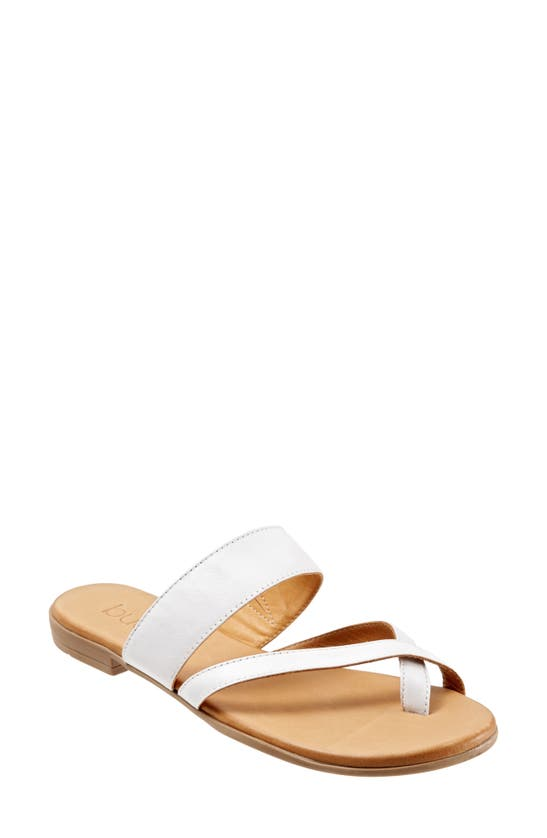 Bueno Women's Jackson Sandals Women's Shoes In White Leather