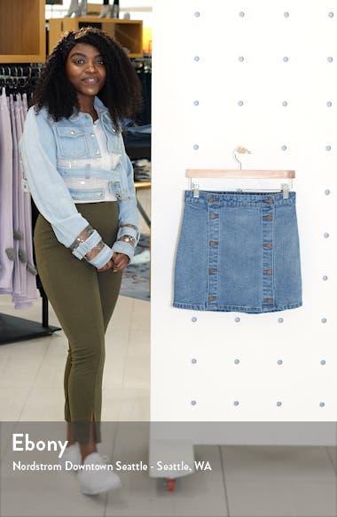 Double Button Denim Skirt, sales video thumbnail