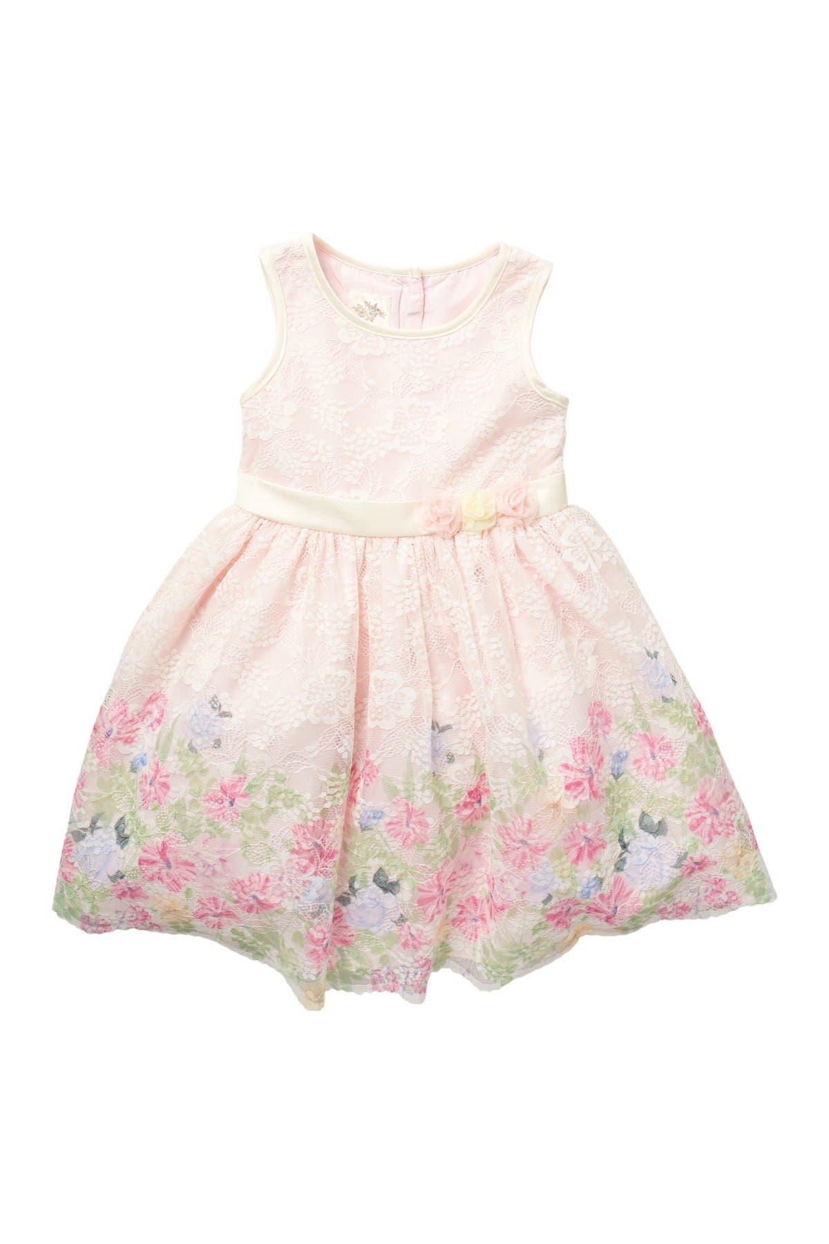 Image of Laura Ashley Floral Lace Sleeveless Dress