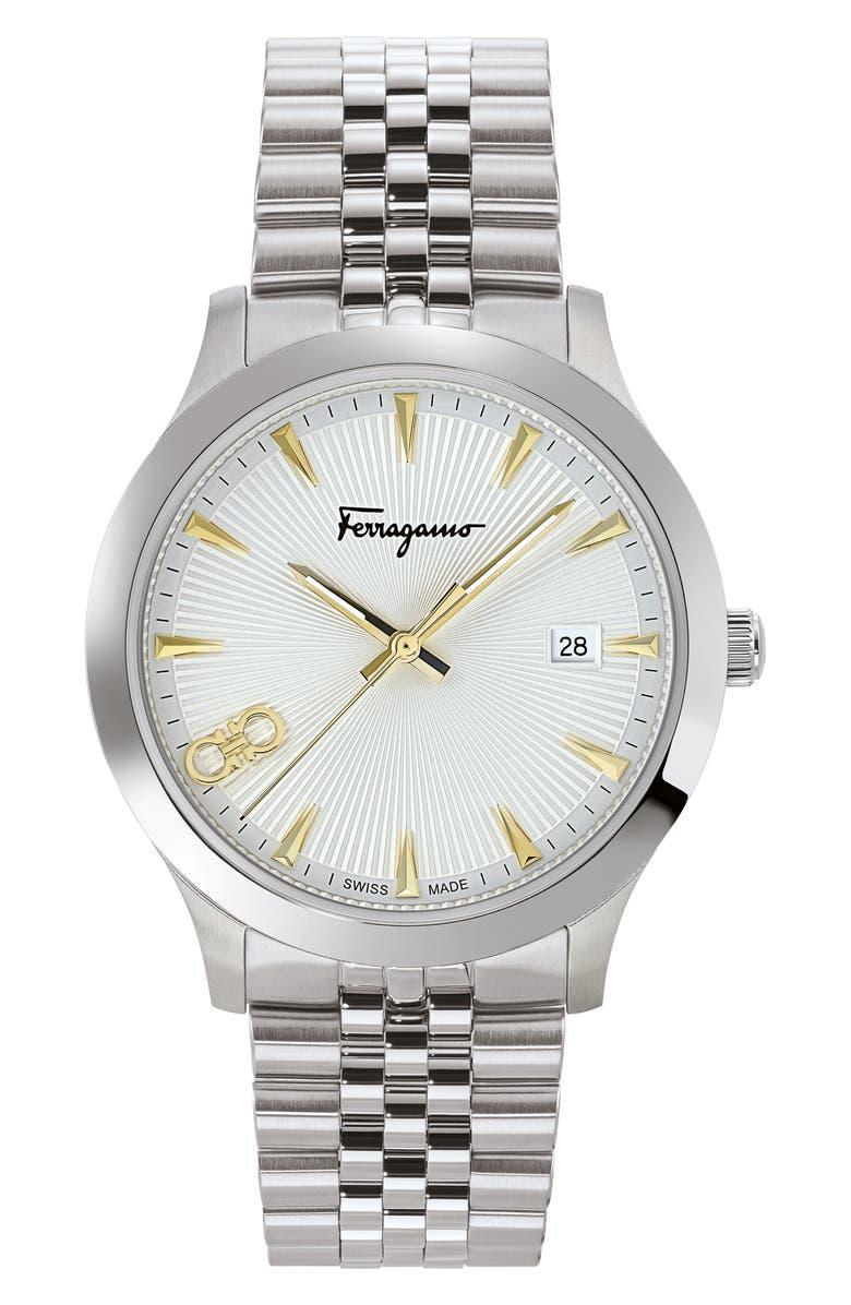 SALVATORE FERRAGAMO Duo Bracelet Watch, 40mm, Main, color, 040