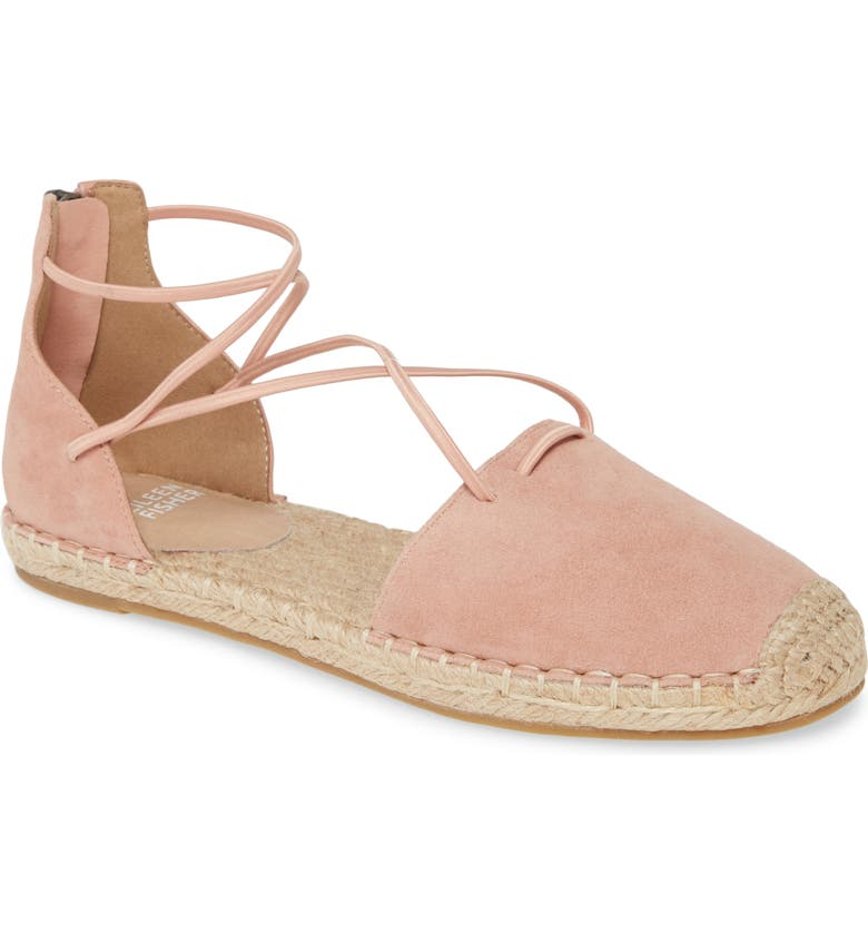 EILEEN FISHER Lace Espadrille, Main, color, AZTEC PINK SUEDE