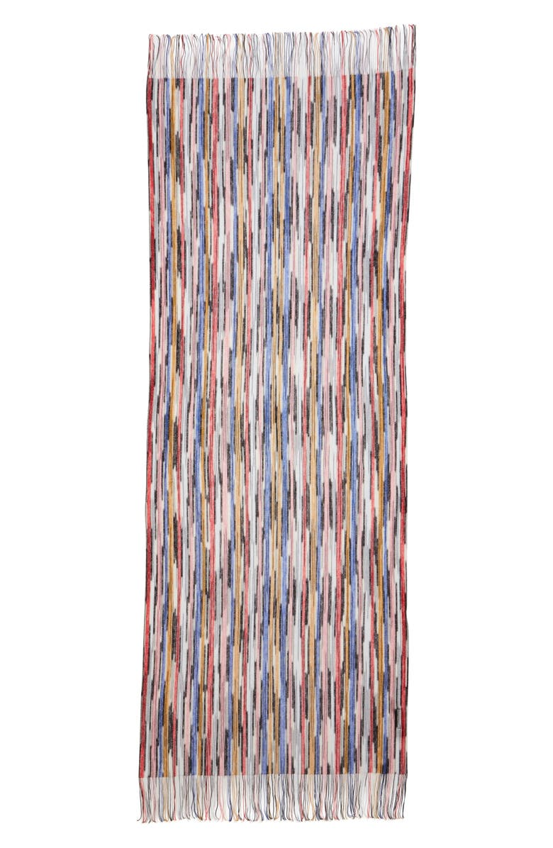 MISSONI Open Knit Space Dyed Scarf, Main, color, RED/ BLUE / PINK MULTI