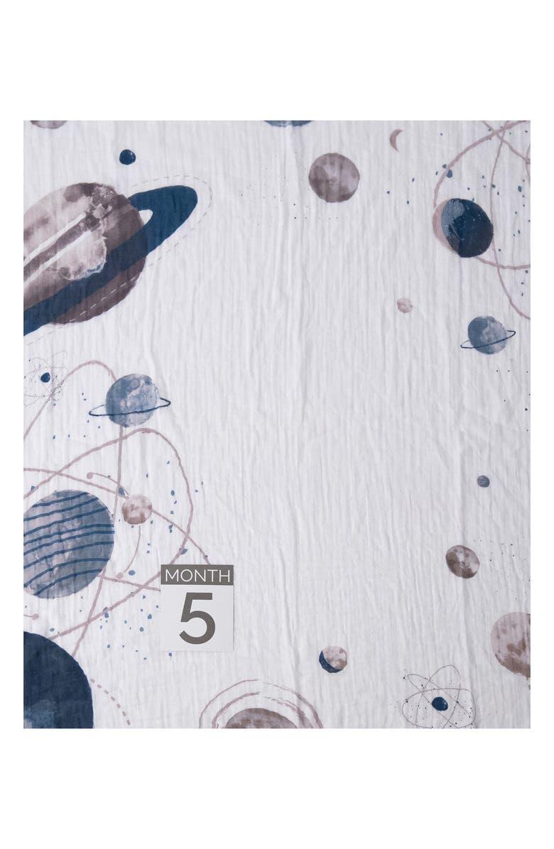 LITTLE UNICORN Photo Blanket & Age Cards Kit, Main, color, PLANETARY