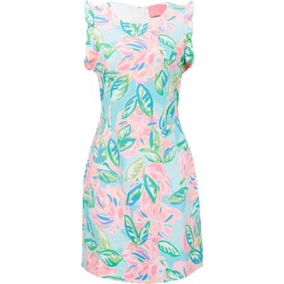 Lilly Pulitzer Carmelisa Floral A-Line Dress, Blue/green