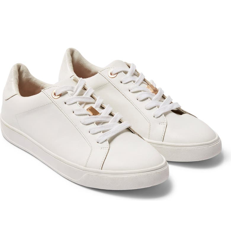 TOPSHOP Cabo Low Top Sneaker, Main, color, WHITE