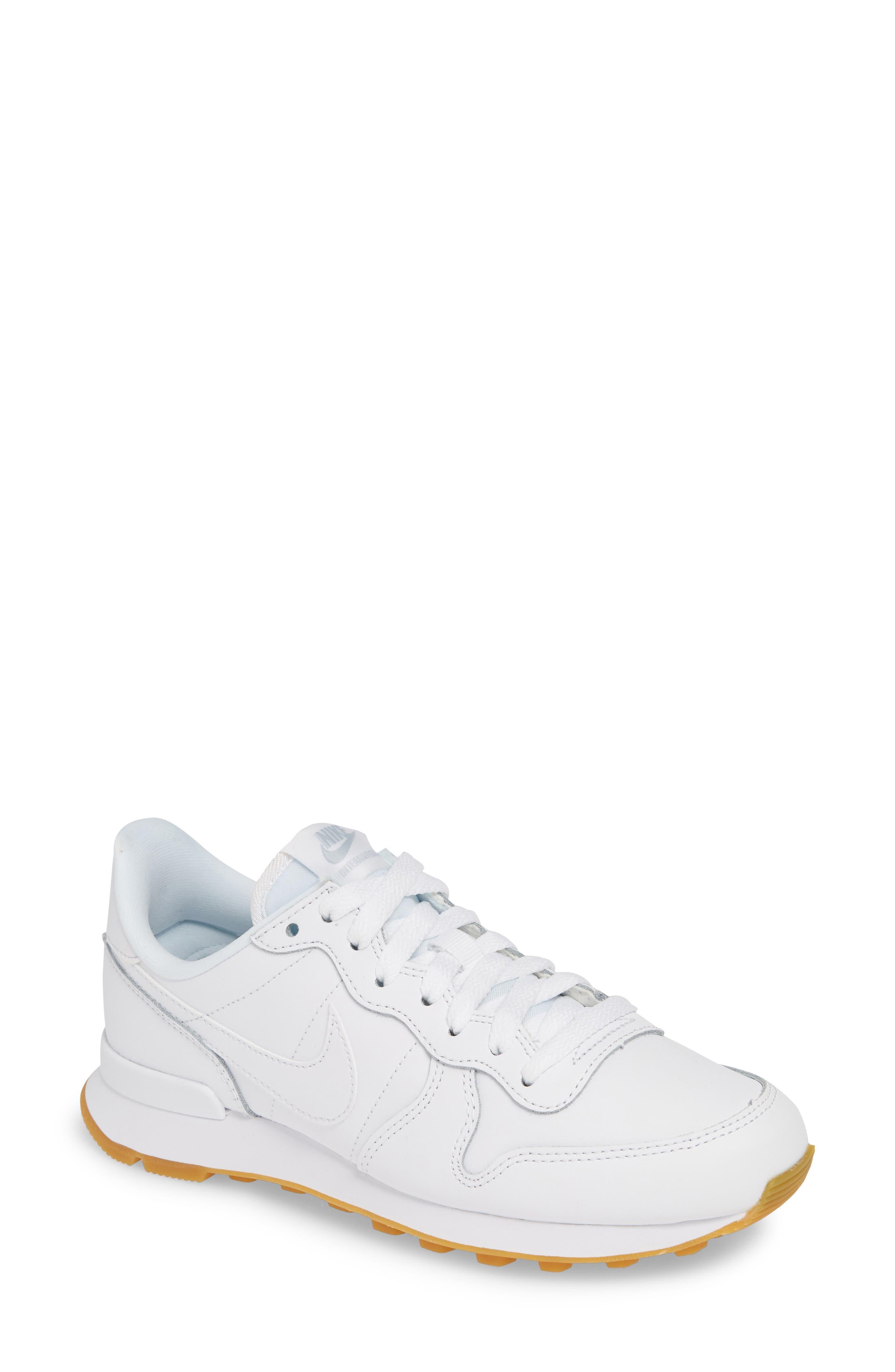 'Internationalist' Sneaker, Main, color, WHITE/ WHITE/ GUM LIGHT BROWN