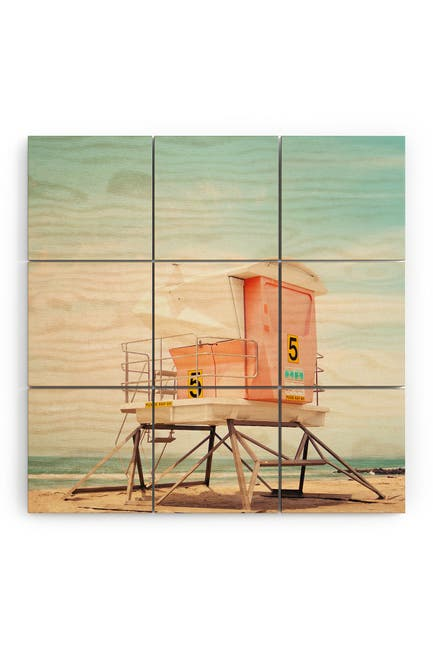 Image of Deny Designs Bree Madden Beach Tower 5 Wood Wall Mural