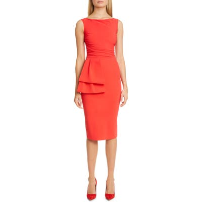 Chiara Boni La Petite Robe Cassie Pleat Cocktail Dress, US - Red