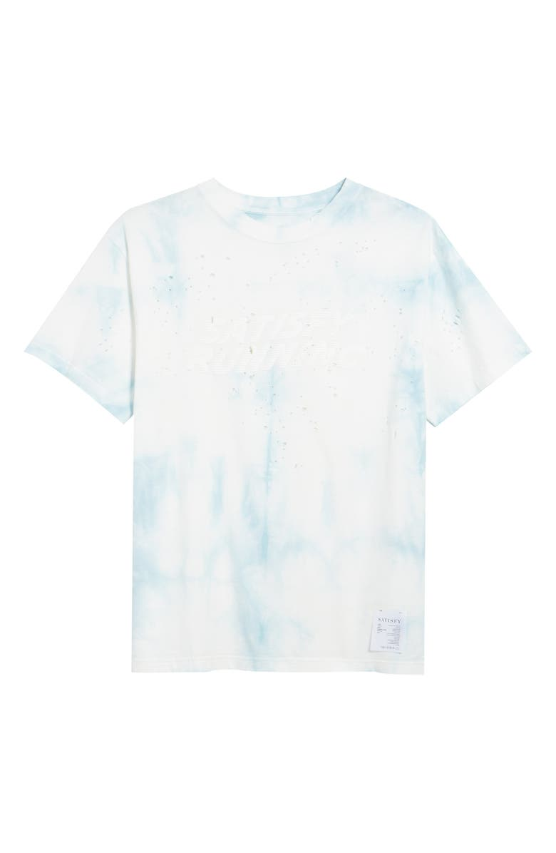 SATISFY Moth Eaten Tie Dye T-Shirt, Main, color, BATIK BLUE