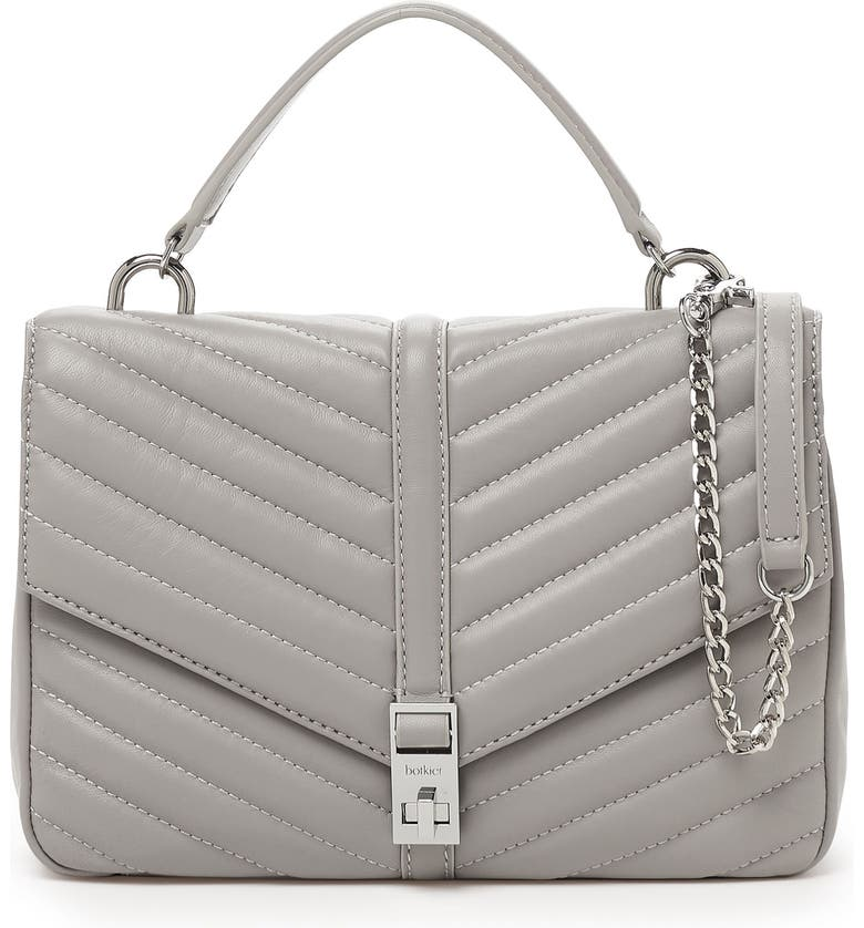 BOTKIER Dakota Quilted Leather Top Handle Bag, Main, color, 020