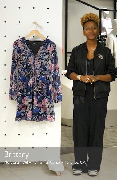 Tropics Floral Print Dress, sales video thumbnail