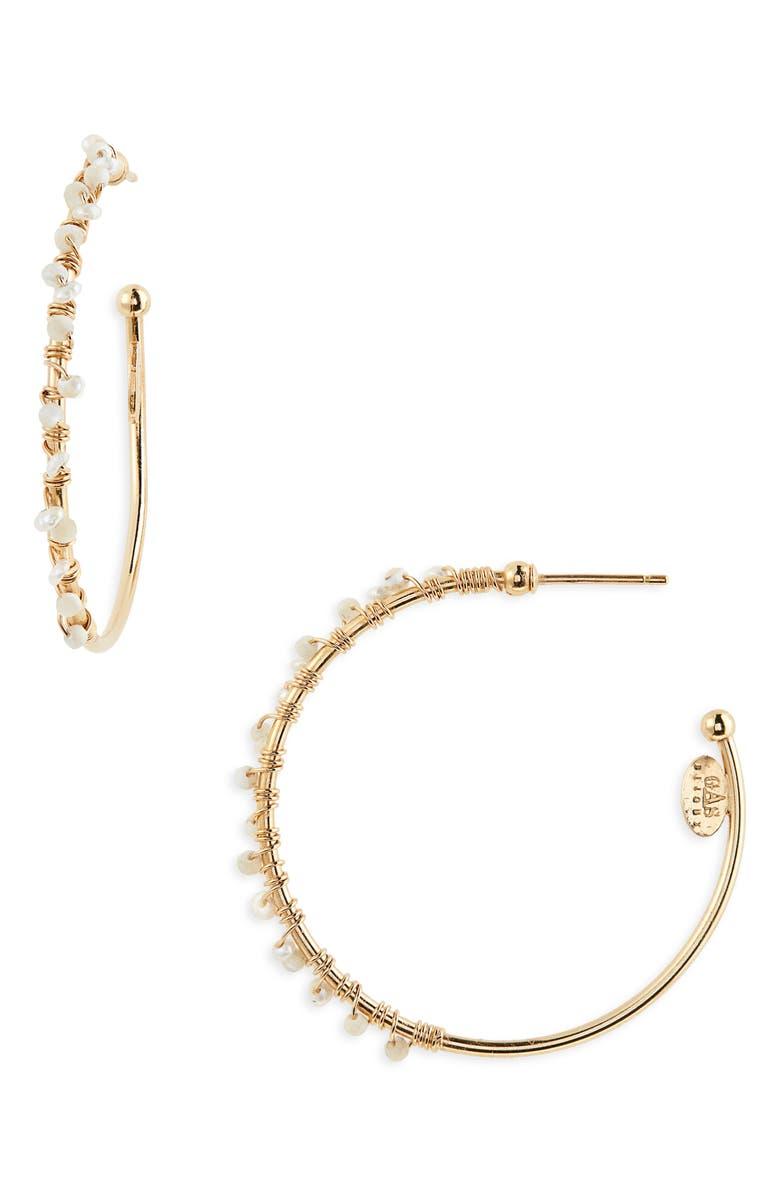 GAS BIJOUX Creole Calliope Hoop Earrings, Main, color, 105