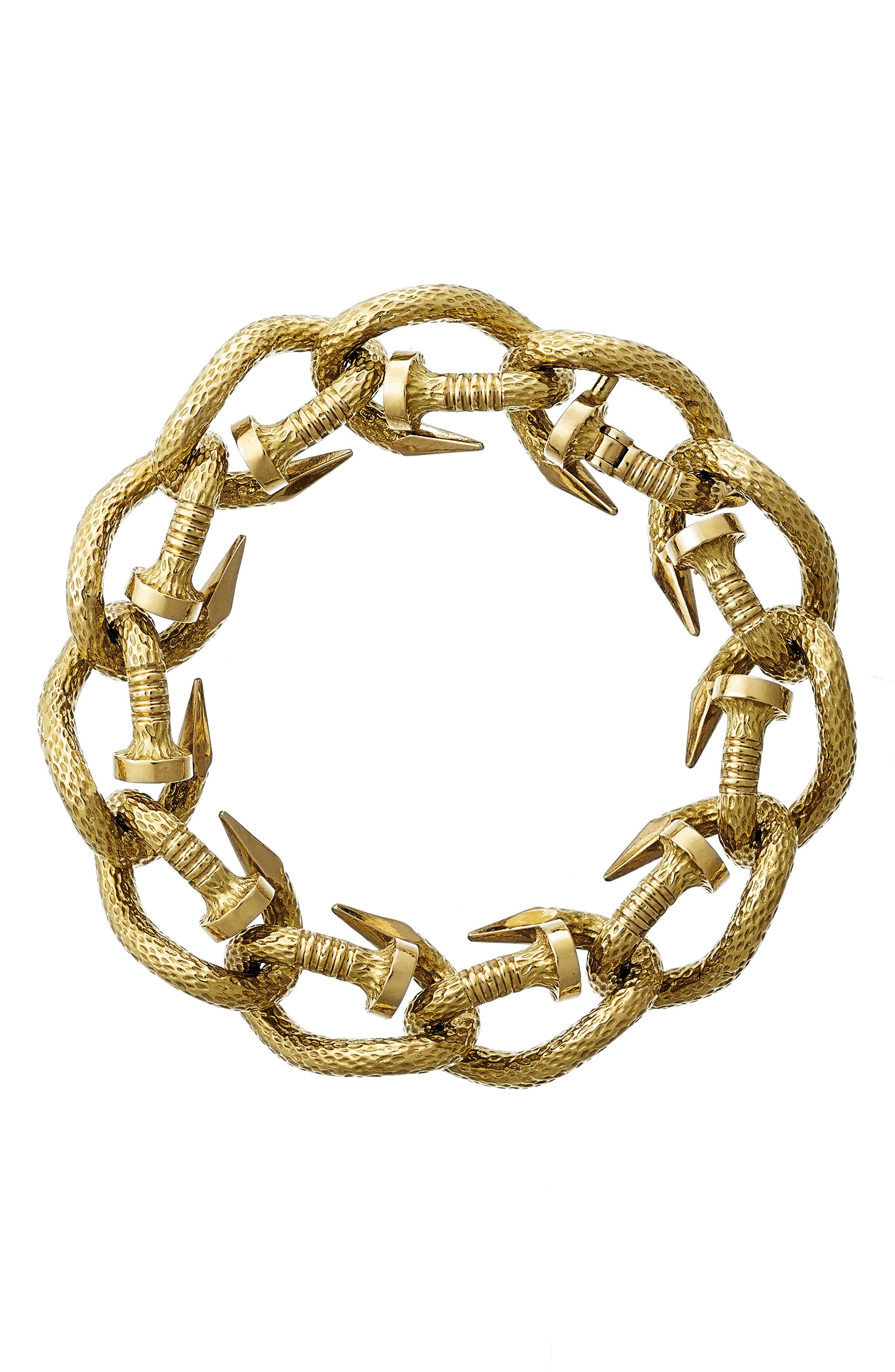 Hammered Nail Link Bracelet