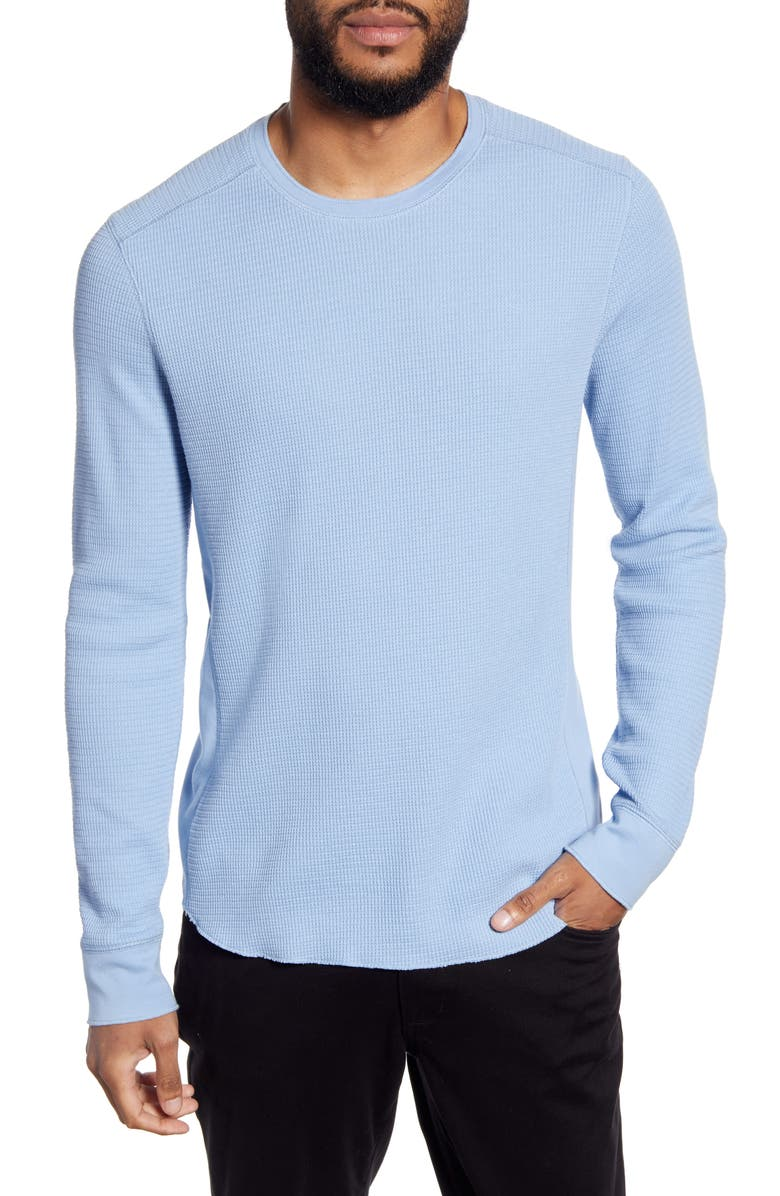 VINCE Regular Fit Crewneck Thermal Knit Pullover, Main, color, DELFT