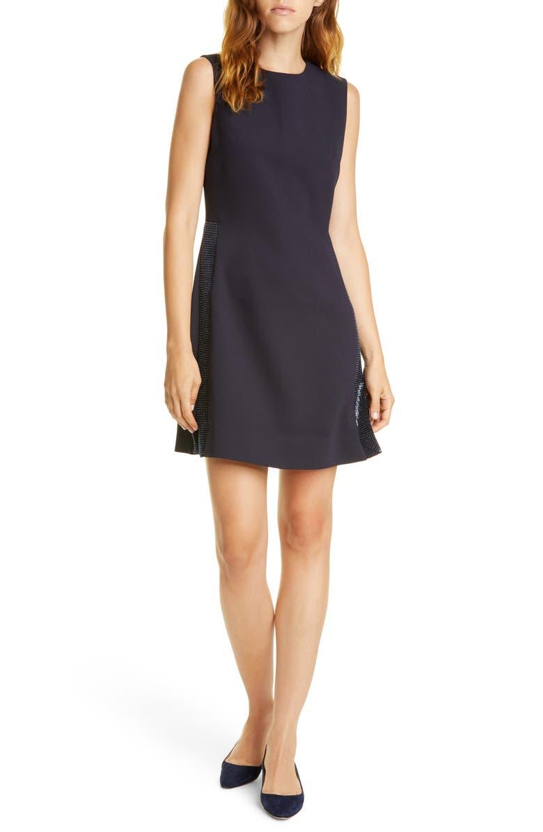 TED BAKER LONDON Glisten Tunic Dress, Main, color, NAVY