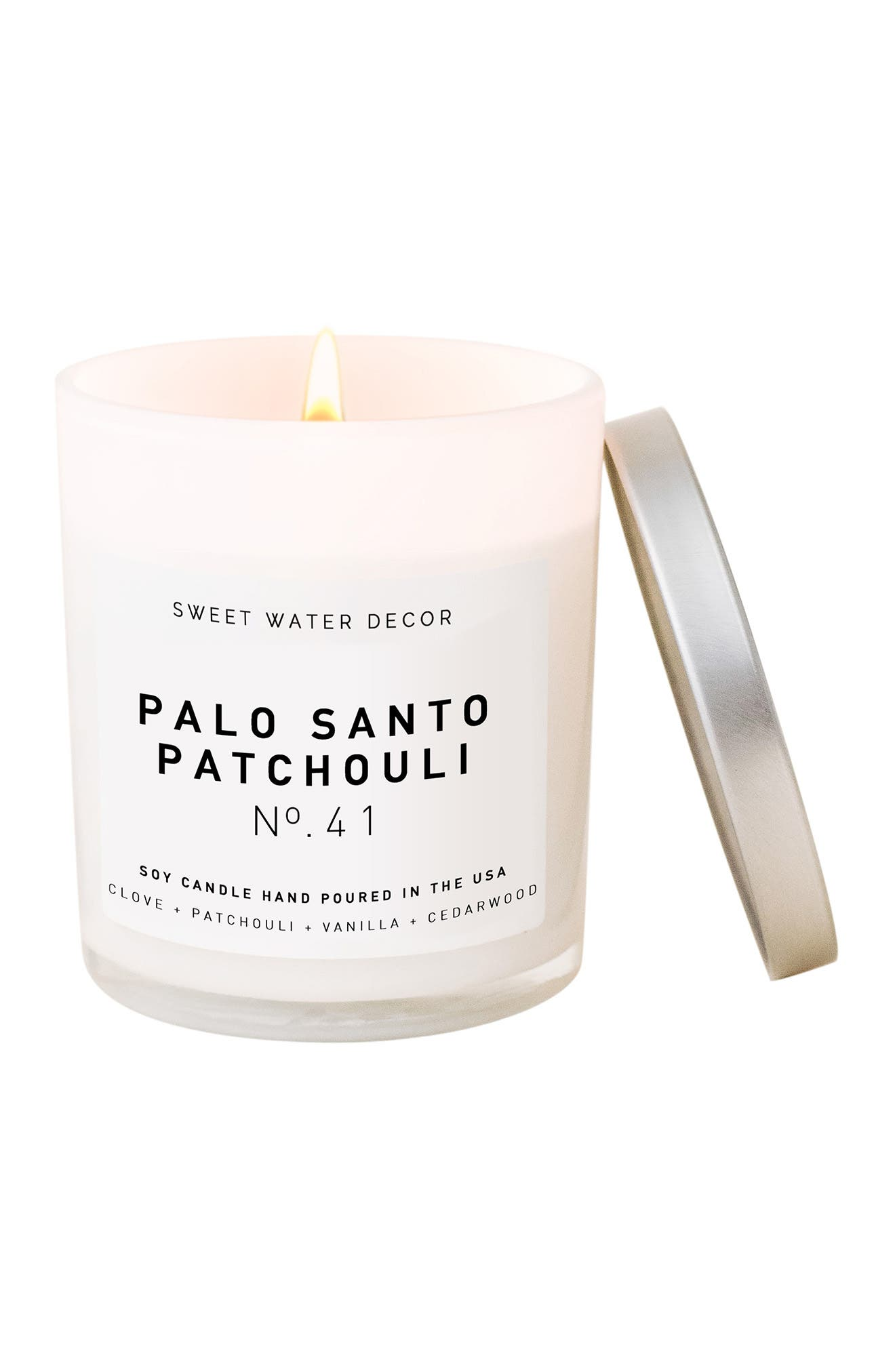Image of SWEET WATER DECOR Palo Santo Pachouli 11 oz. Soy Jar Candle - Set of 2