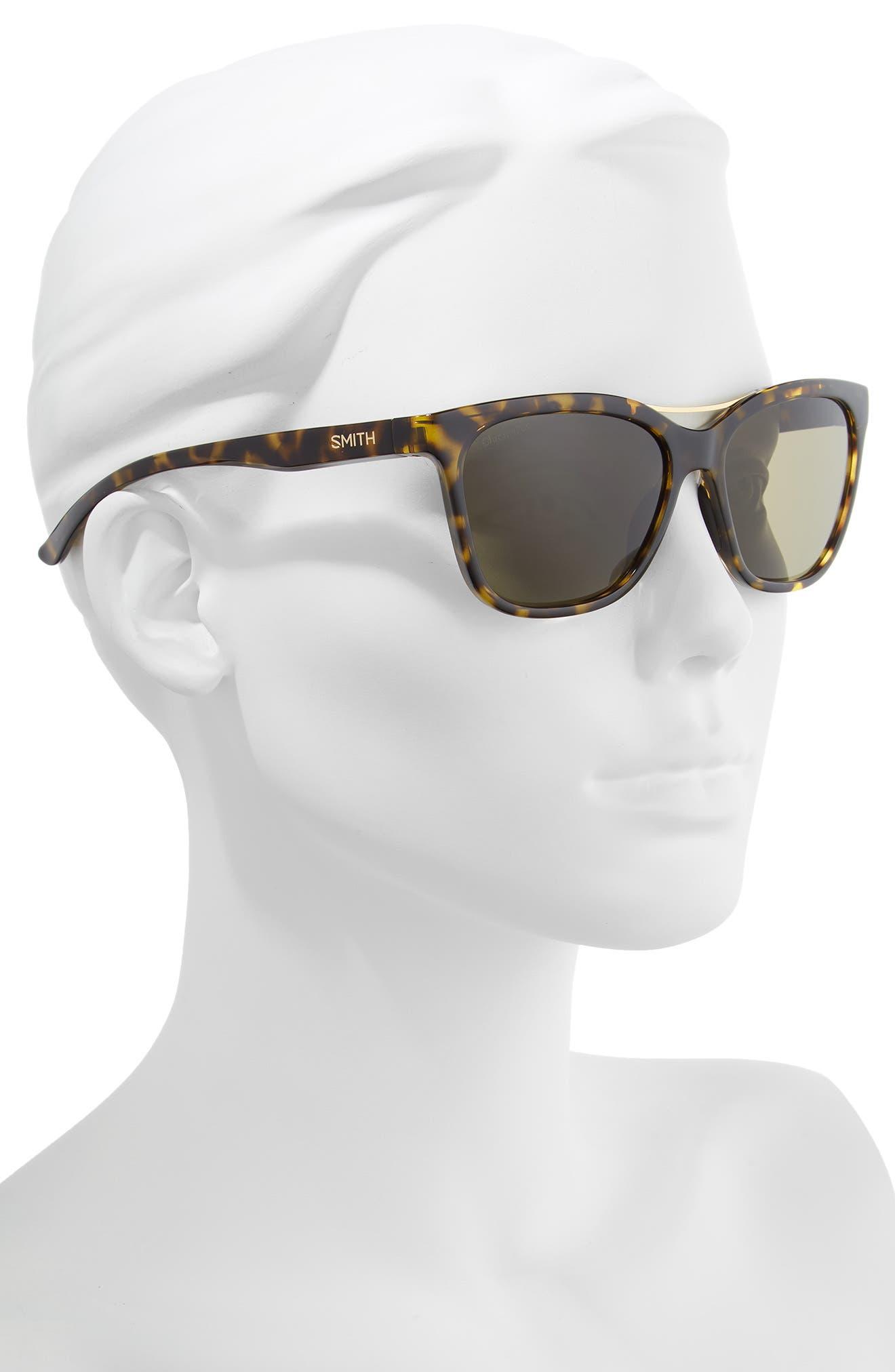 ,                             Cavalier 55mm ChromaPop<sup>™</sup> Polarized Cat Eye Sunglasses,                             Alternate thumbnail 2, color,                             VINTAGE TORTOISE/ GREEN