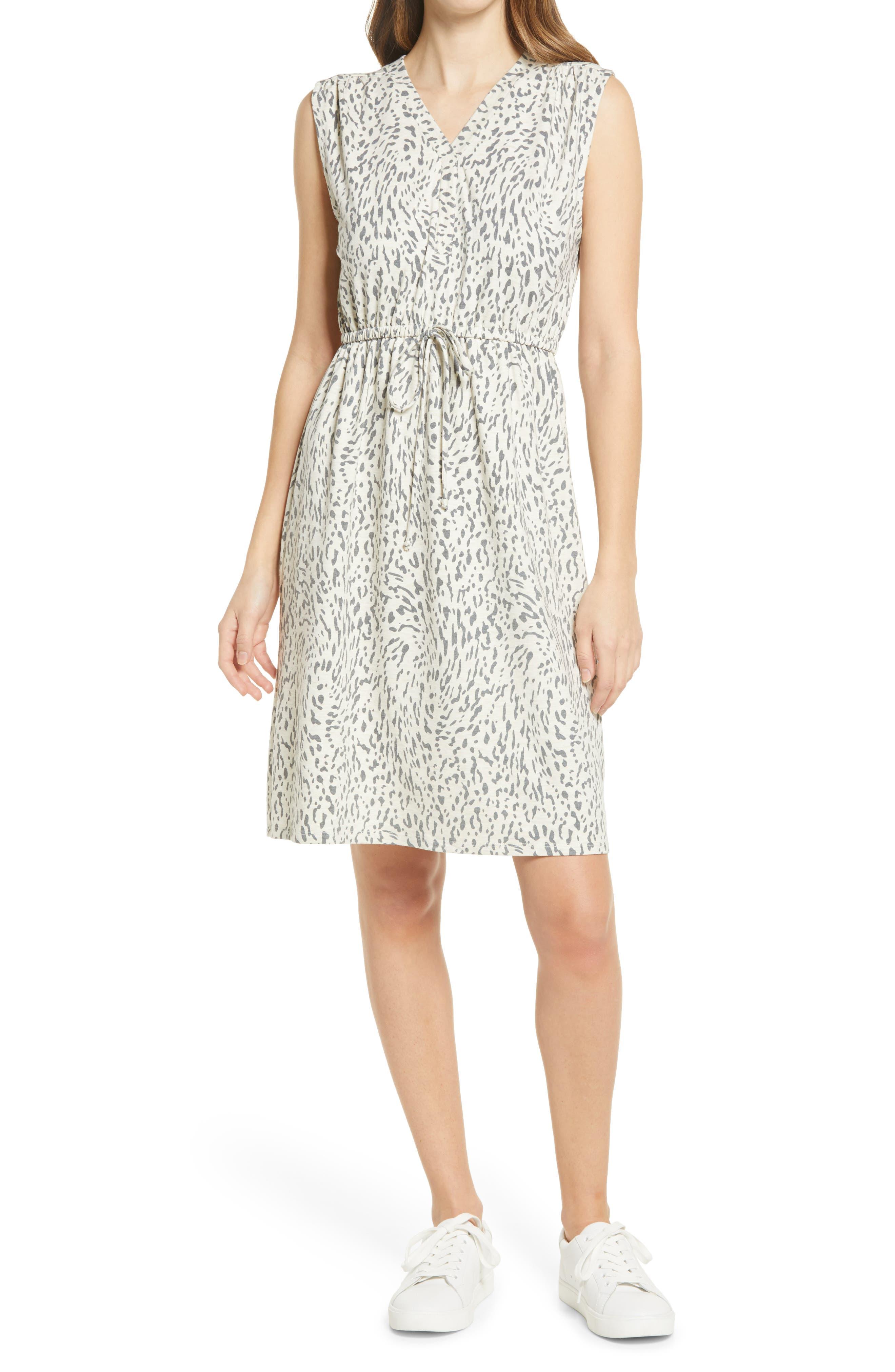 Drawstring Jersey Dress