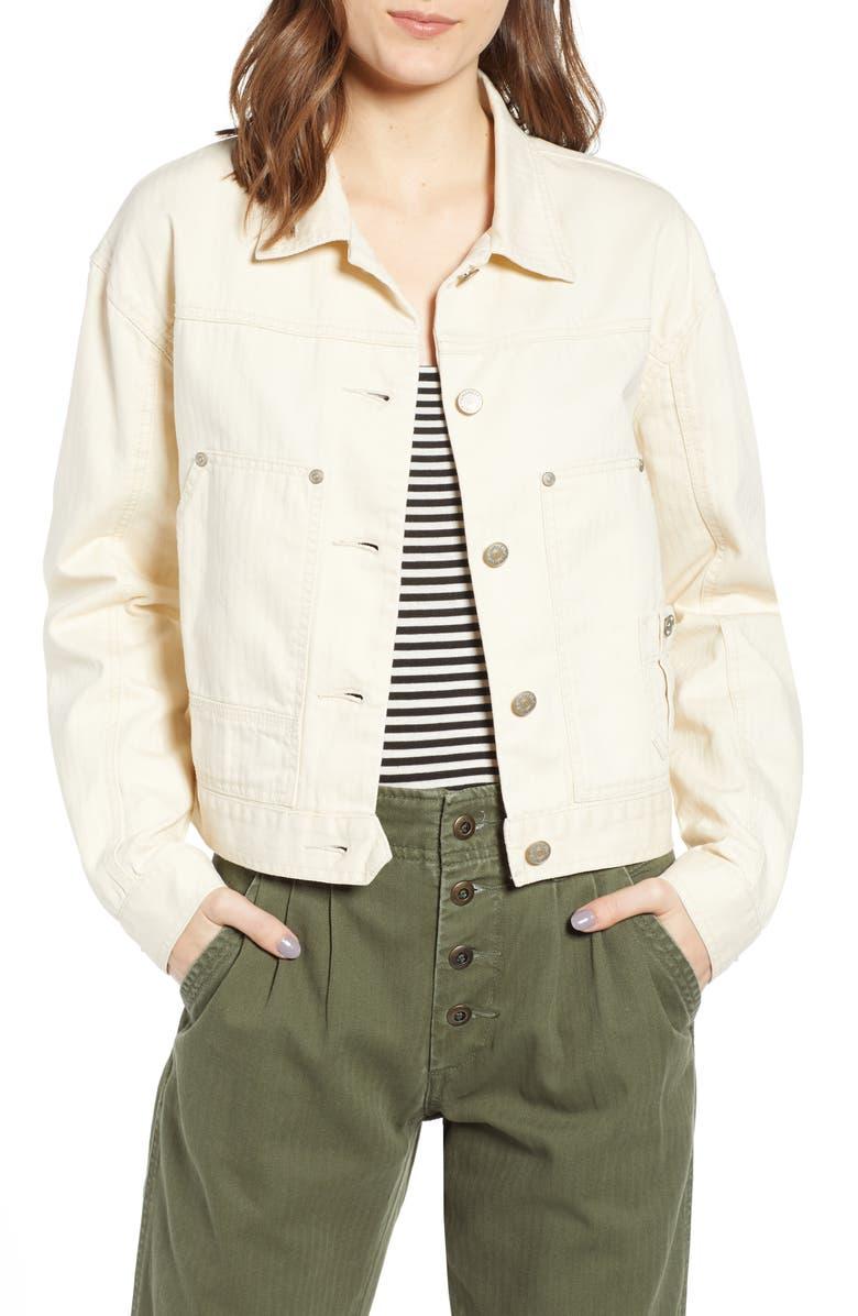 UNIONBAY Nattie Workwear Jacket, Main, color, ALABASTER