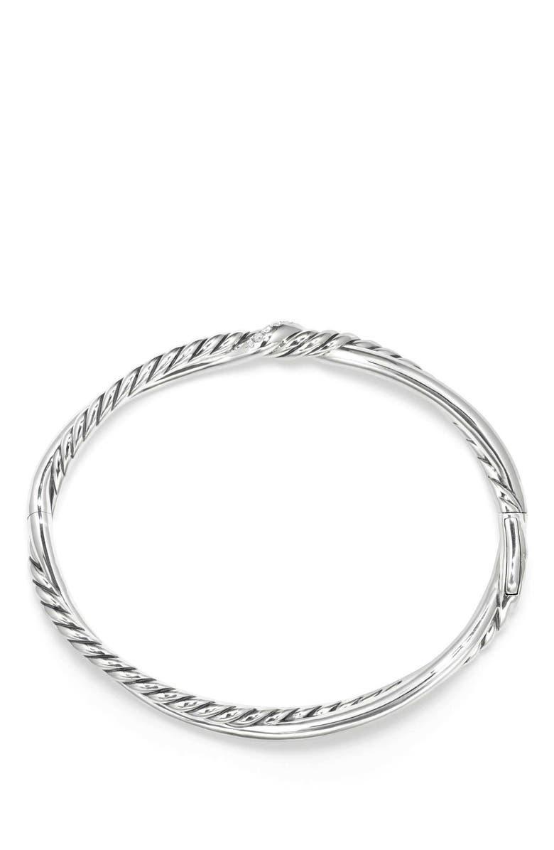 DAVID YURMAN Continuance Small Station Bracelet with Diamonds, Main, color, SILVER/ DIAMOND
