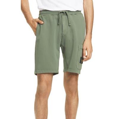 Stone Island Cargo Athletic Shorts, Green