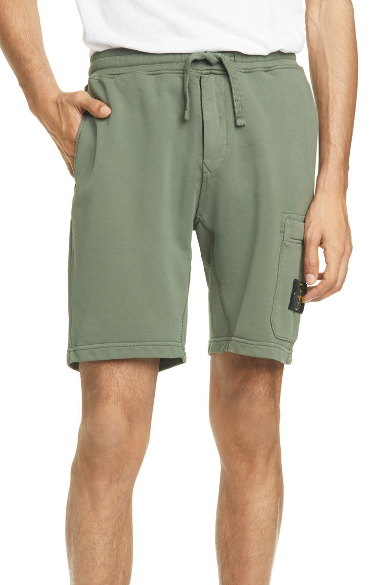 STONE ISLAND Cargo Athletic Shorts, Main, color, 309