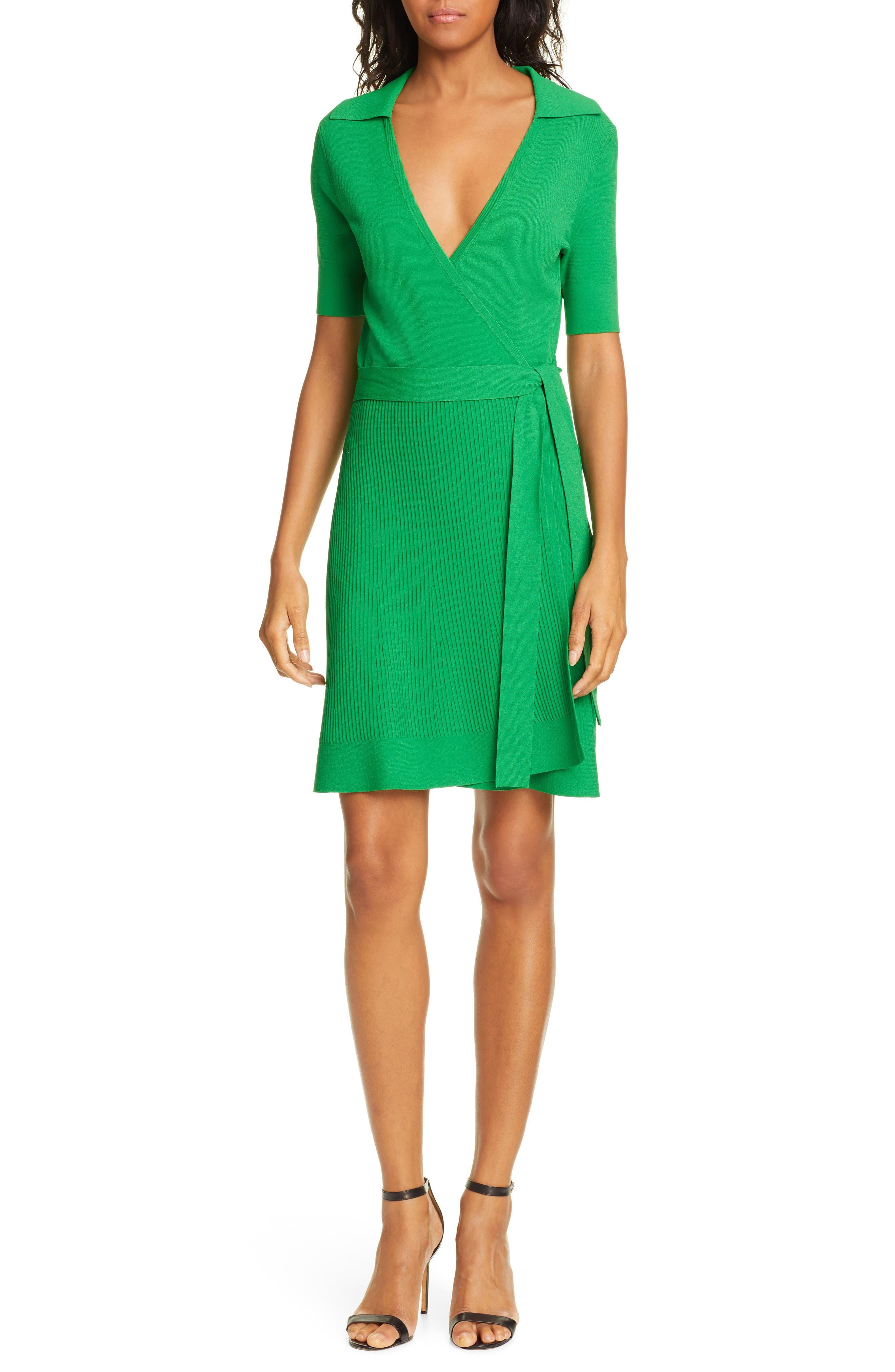 Dvf Zyla Wrap Dress, Green