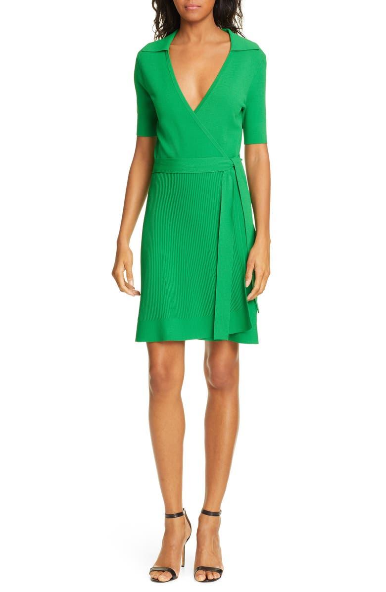 DVF Zyla Wrap Dress, Main, color, LAWN