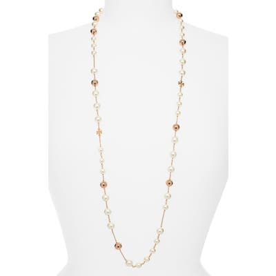 Tory Burch Imitation Pearl Rosary Necklace