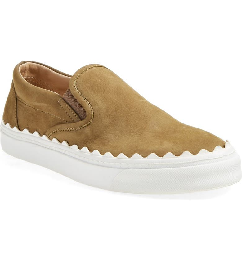 CHLOÉ 'Ivy' Scallop Slip-On Sneaker, Main, color, 300