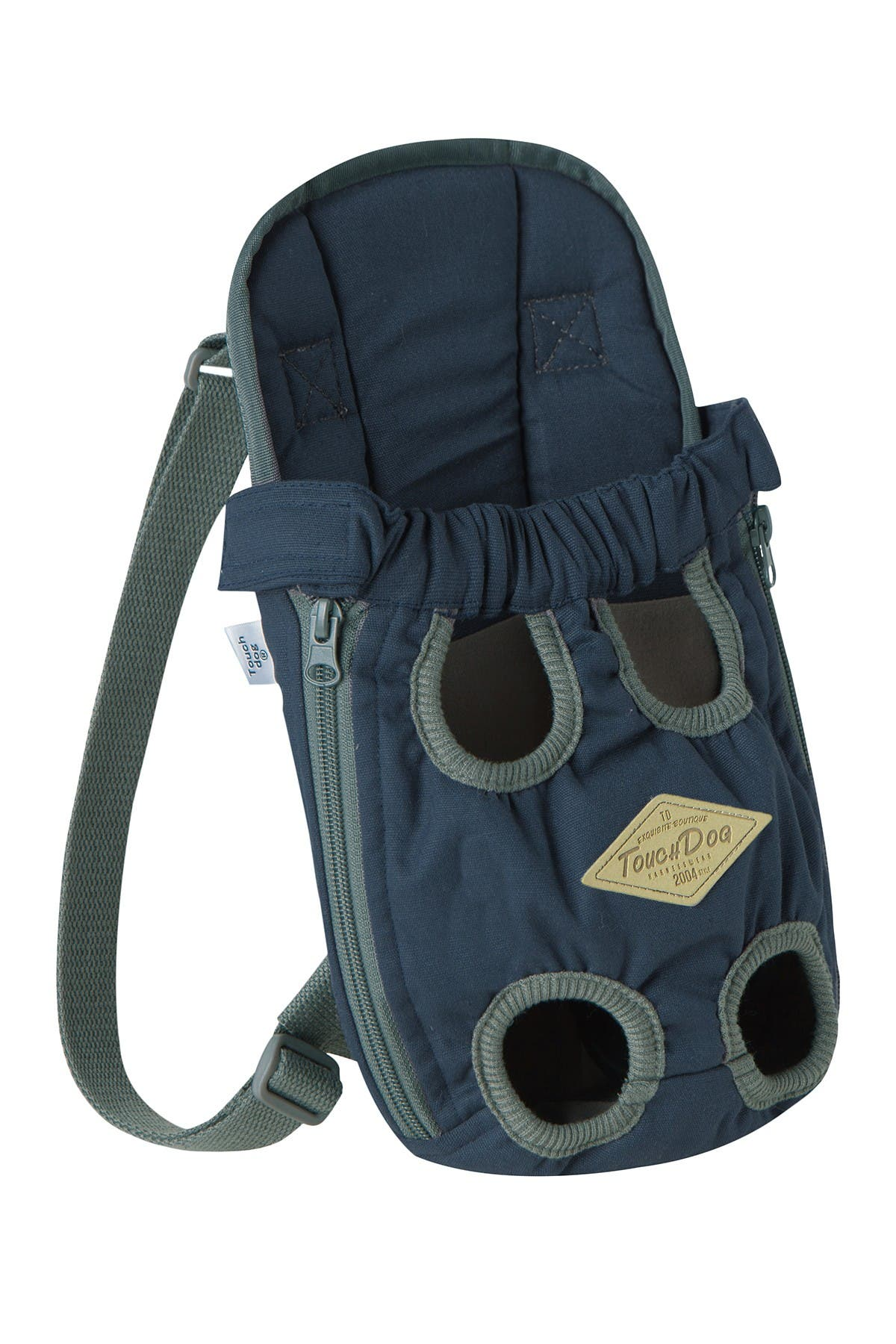 Image of Pet Life Touchdog 'Wiggle-Sack' Fashion Designer Front & Backpack Dog Carrier - Small