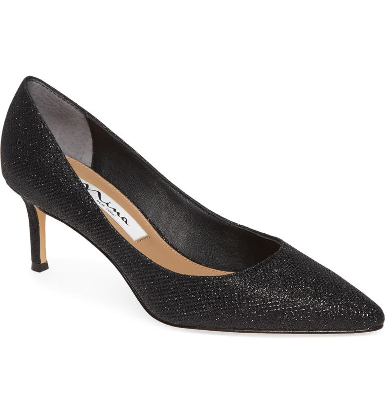 NINA Nina60 Pointy Toe Pump, Main, color, NOIR FABRIC
